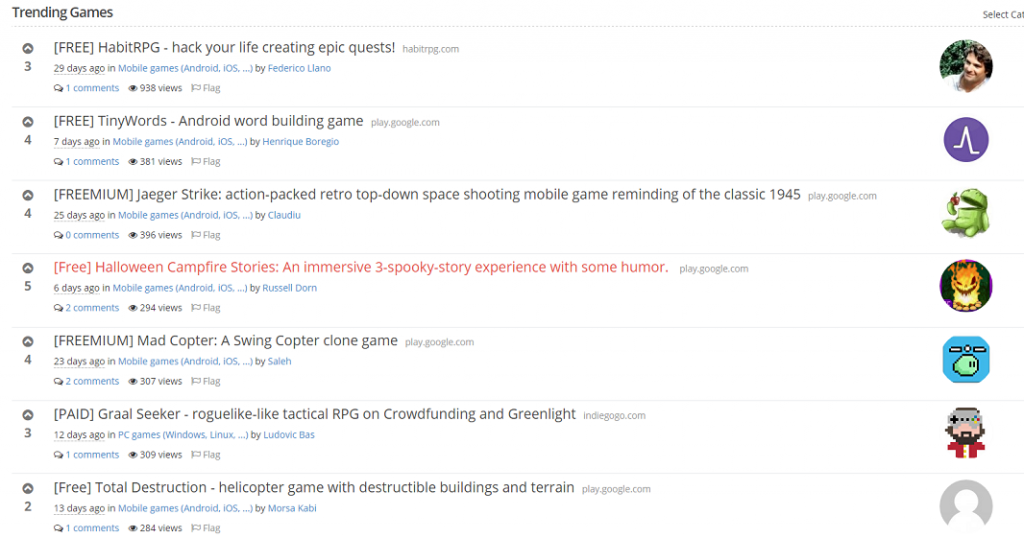 Climbing the Indie Game Hunt Ladder
