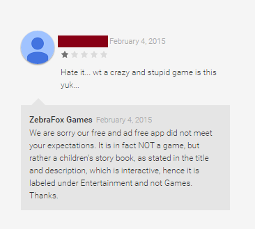 Bad Reviews on Google Play  - unfair