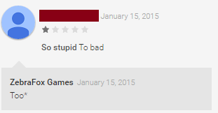 Bad Reviews on Google Play uninformed